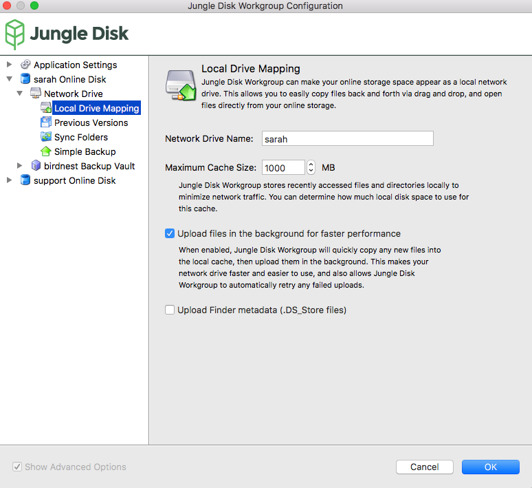 5  The Network Drive — Jungle Disk User Guide v1 0 1